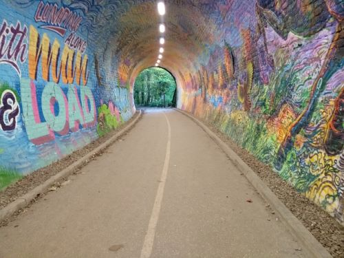 Another wide view of the tunnel